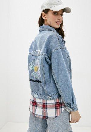 Куртка джинсовая Forza Viva. Цвет: голубой
