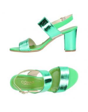 Сандалии CONNI. Цвет: зеленый