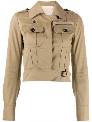 Укороченная куртка 2000-х годов Balenciaga Pre-Owned. Цвет: нейтральные цвета