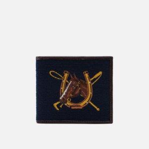 Кошелек Equestrian Needlepoint Billfold Polo Ralph Lauren. Цвет: синий