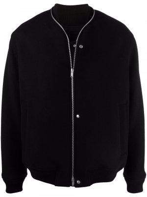 Куртка-бомбер на молнии Jil Sander. Цвет: черный