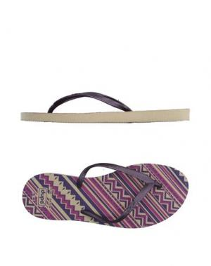 Вьетнамки DUPE. Цвет: фиолетовый