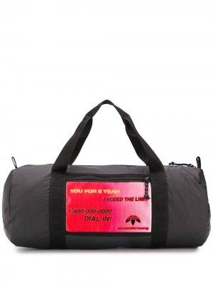 Дорожная сумка с нашивкой adidas Originals by Alexander Wang. Цвет: черный