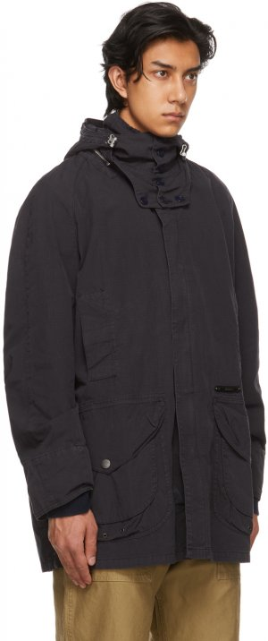 Navy Overdyed Beaufort Casual Coat Barbour. Цвет: navy