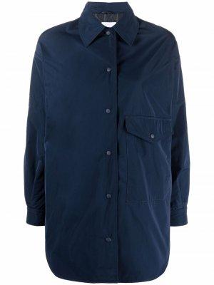 Press-stud fastening shirt coat Aspesi. Цвет: синий