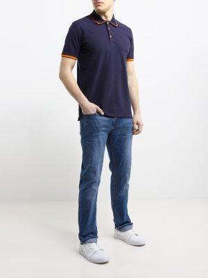 Прямые джинсы Alessandro Manzoni Jeans. Цвет: siniy