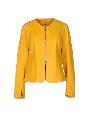 Куртка EMANUELE CURCI. Цвет: желтый