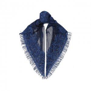 Хлопковая шаль Garavani Valentino. Цвет: синий