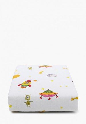 Одеяло детское Заяц на подушке с наполнителем, 80х120 см. Цвет: белый
