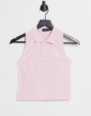 Розовая футболка-поло без рукавов -Розовый цвет Polo Ralph Lauren