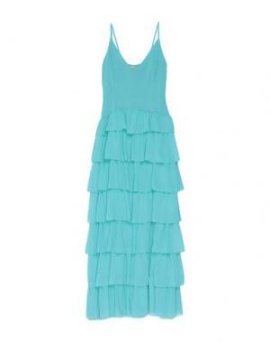 Длинное платье BABYLON. Цвет: бирюзовый