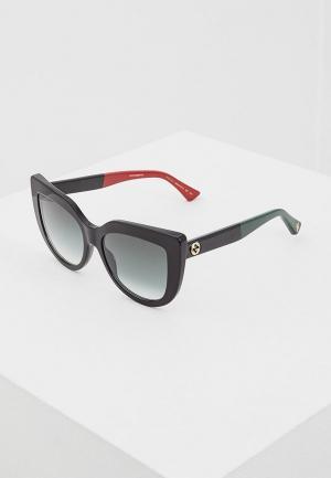Очки солнцезащитные Gucci GG0164S003. Цвет: черный