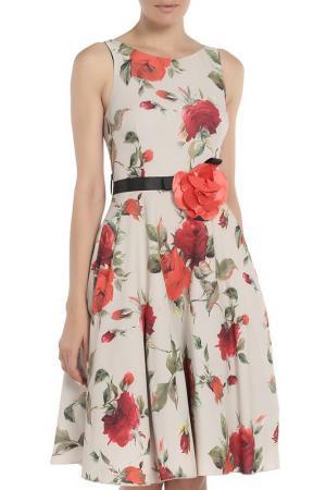 Платье Fervente. Цвет: бежевый