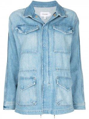 Джинсовая куртка Service FRAME. Цвет: синий