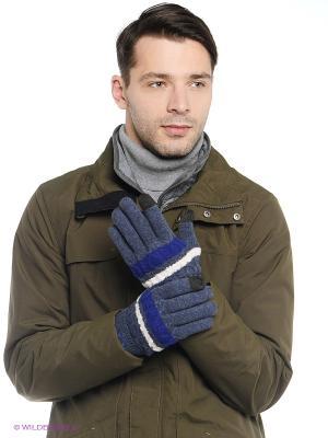 Перчатки Fred Perry. Цвет: синий