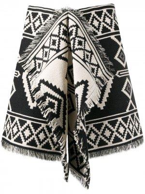 Юбка мини с бахромой Isabel Marant Étoile. Цвет: черный
