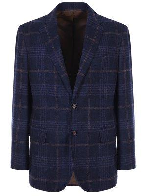 Классический пиджак в клетку Stile Latino. Цвет: синий
