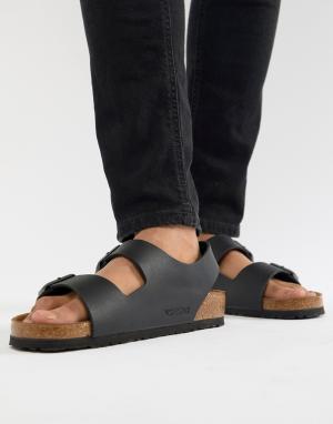 Черные сандалии Milano-Черный Birkenstock