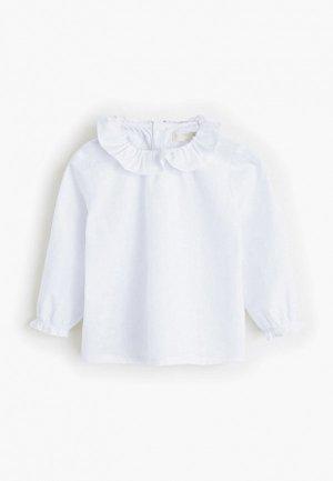 Рубашка Mango Kids - PUFFI. Цвет: белый