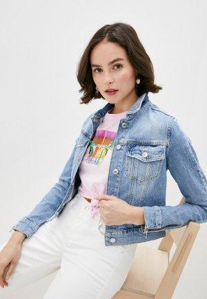 Куртка джинсовая Guess Jeans. Цвет: синий