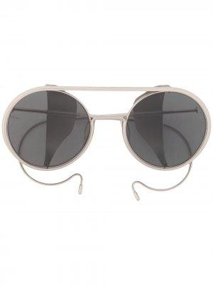 Солнцезащитные очки-авиаторы Boris Bidjan Saberi. Цвет: серебристый