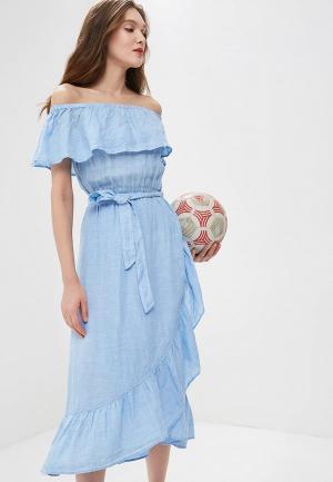 Платье Marks & Spencer MA178EWBKVX1. Цвет: голубой