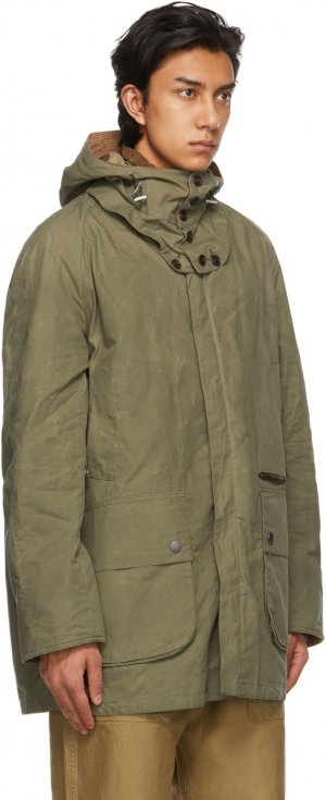 Green Overdyed Beaufort Casual Coat Barbour. Цвет: dusky green