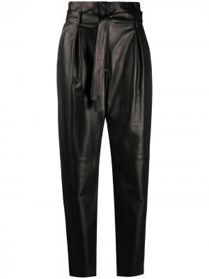 Paperbag-waist tapered trousers Drome. Цвет: черный