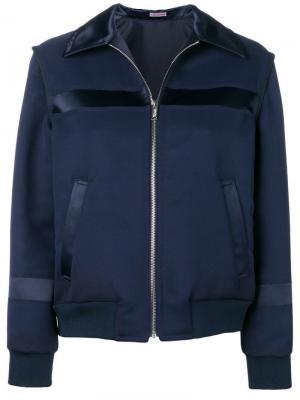 Приталенная куртка-бомбер Sueundercover. Цвет: синий