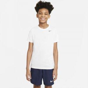 Футболка для тренинга школьников Dri-FIT - Белый Nike