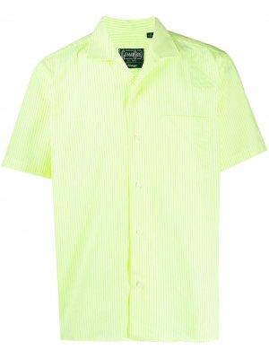 Полосатая рубашка Gitman Vintage. Цвет: желтый