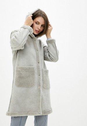 Пальто Vagi. Цвет: серый