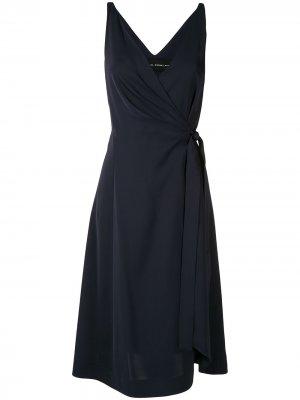 Расклешенное платье с запахом Gloria Coelho. Цвет: синий