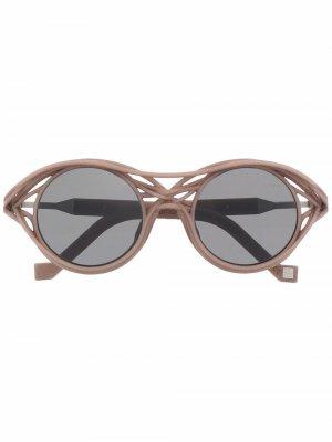 Солнцезащитные очки CL0015 в круглой оправе VAVA Eyewear. Цвет: нейтральные цвета