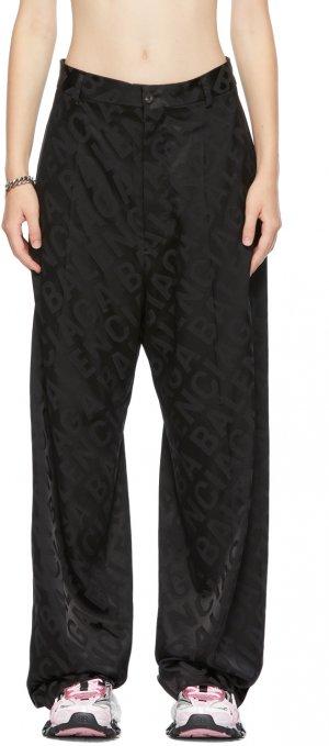 Black Large Logo Baggy Trousers Balenciaga. Цвет: 0100 black