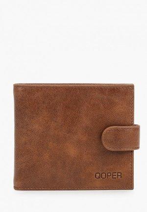 Кошелек Qoper. Цвет: коричневый