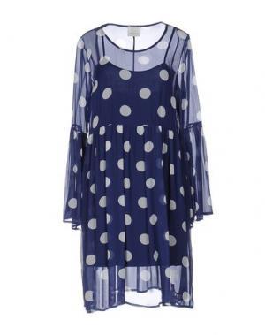 Короткое платье GUARDAROBA by ANIYE. Цвет: синий