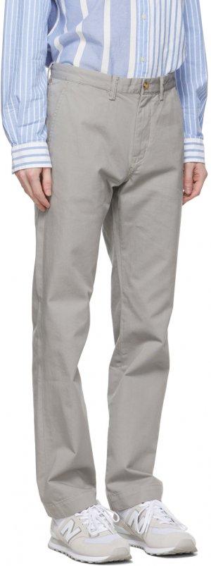 Grey Basic Chino Trousers Polo Ralph Lauren. Цвет: soft grey