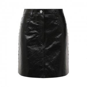 Кожаная юбка Givenchy. Цвет: чёрный
