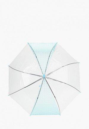 Зонт-трость Zemsa. Цвет: голубой