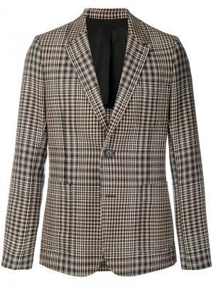 Пиджак на двух пуговицах с частичной подкладкой AMI Paris. Цвет: черный