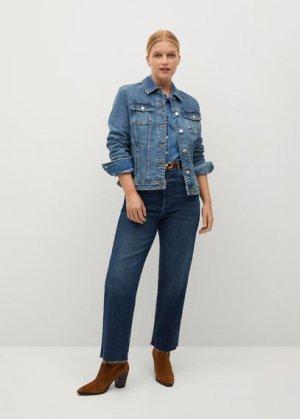 Джинсовая куртка среднего тона - Sarah Mango. Цвет: синий средний