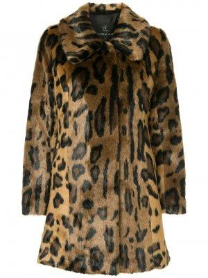 Пальто Furever Unreal Fur. Цвет: коричневый