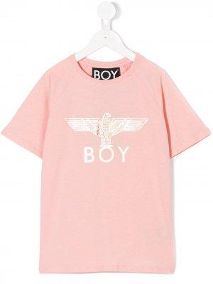 Футболка Eagle Boy London Kids. Цвет: розовый
