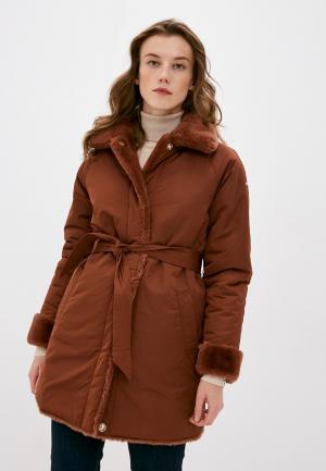 Куртка утепленная Geox Reversible. Цвет: коричневый