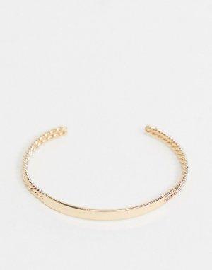 Золотистый браслет-кафф -Золотой ASOS DESIGN
