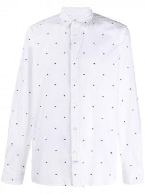 Рубашка с вышивкой Kenzo. Цвет: белый
