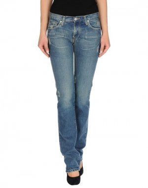 Джинсовые брюки ACQUAVERDE. Цвет: синий