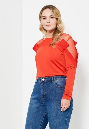 Блуза LOST INK RED OVERSIZED PLEATED TOP. Цвет: красный