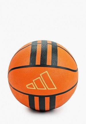 Мяч баскетбольный adidas 3S RUBBER X2. Цвет: оранжевый